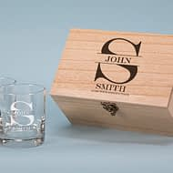 Aged with Distinction Design 280ml Spirit Glass Boxed Gift Set
