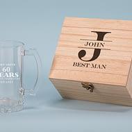 Best Man Design 500ml Personalised Beer Glass