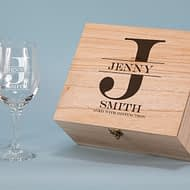 Aged with Distinction Design 550 ml Wine Glass Boxed Gift Set