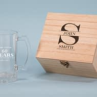 Aged with Distinction Design 500ml Personalised Beer Glass