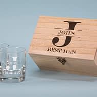 Best Man Design 280ml Spirit Glass Boxed Gift Set