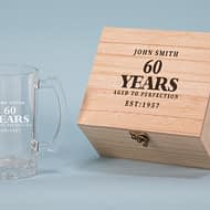 Aged to Perfection Design 500ml Personalised Beer Glass