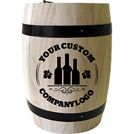 Corporate logo coffee barrel